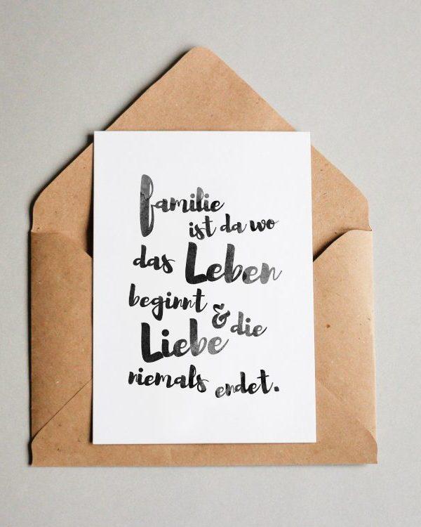 Familie ist da wo das Leben beginnt...
