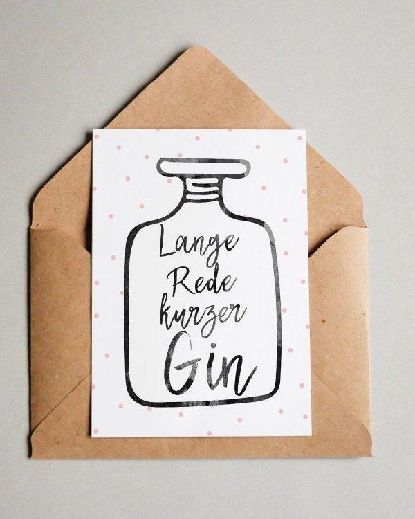 Lange Rede kurzer Gin