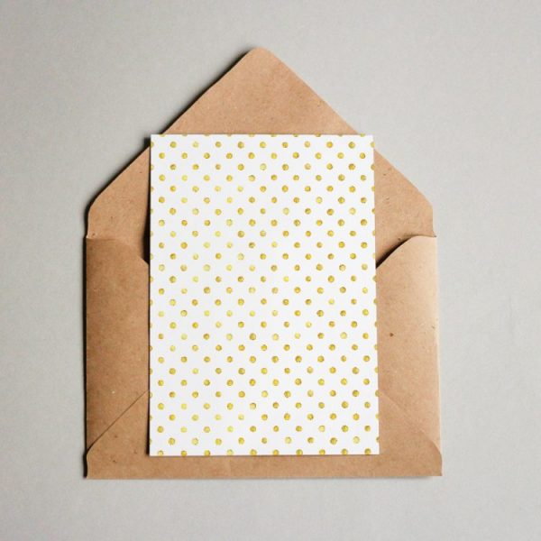 Muster #056 Golden Polka Dots #1