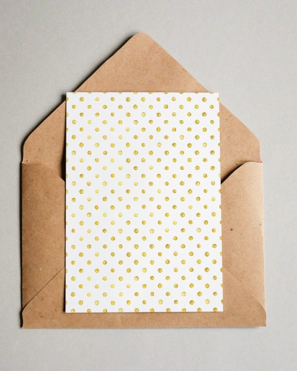 Muster #056 Golden Polka Dots #1