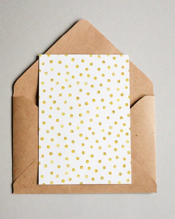 Muster #057 Golden Polka Dots #2