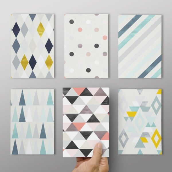 "6er Set ""Postkarten mit Muster #2"""